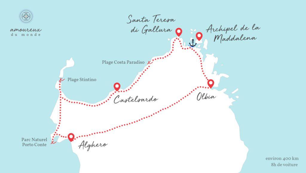 Carte Sardaigne Nord.Visiter Le Nord De La Sardaigne Amoureux Du Monde Blog