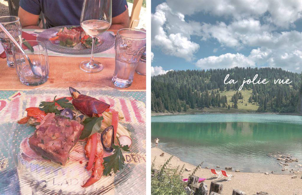 restaurant lac des chavonnes
