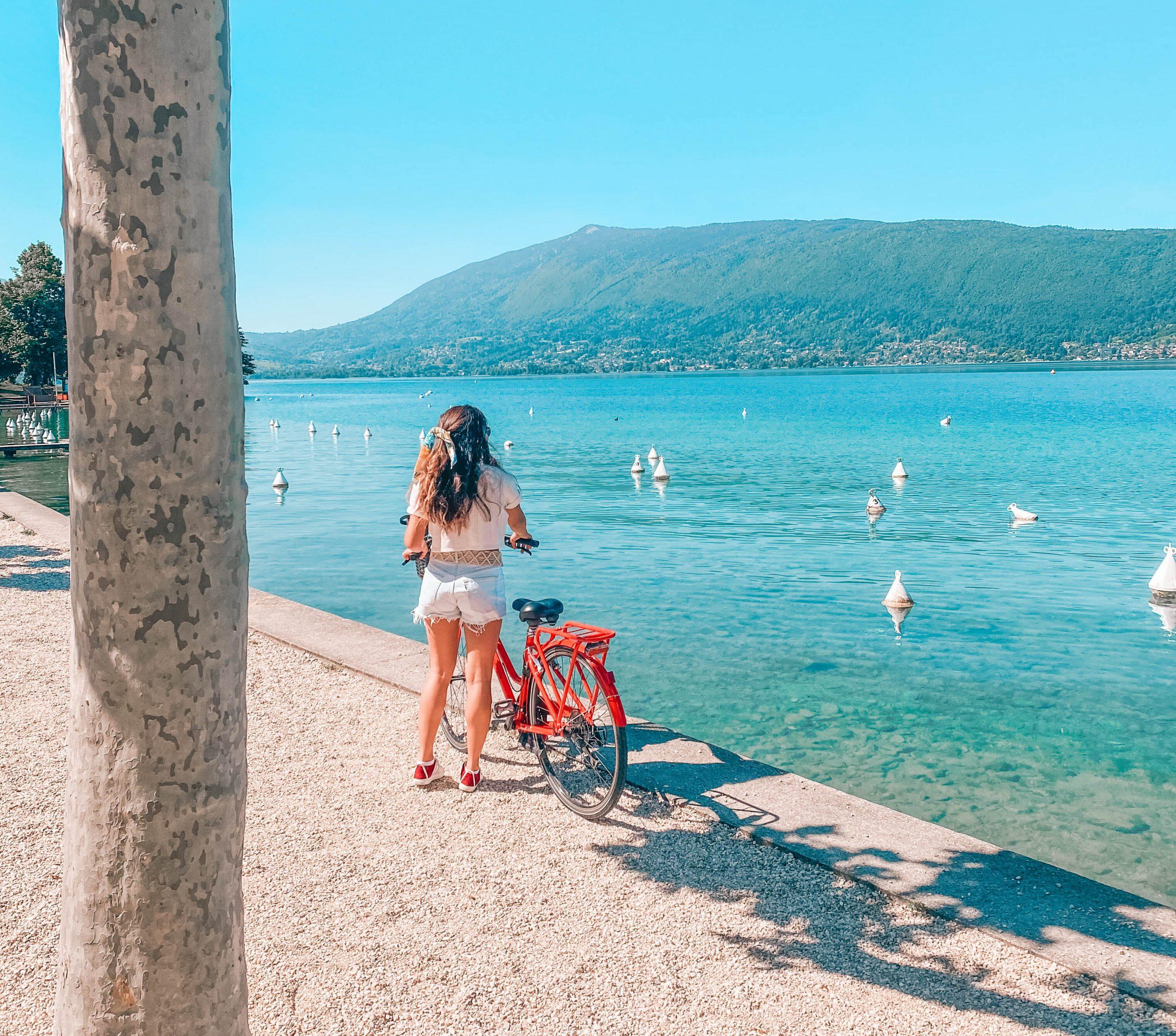 tour du lac d'Annecy à vélo