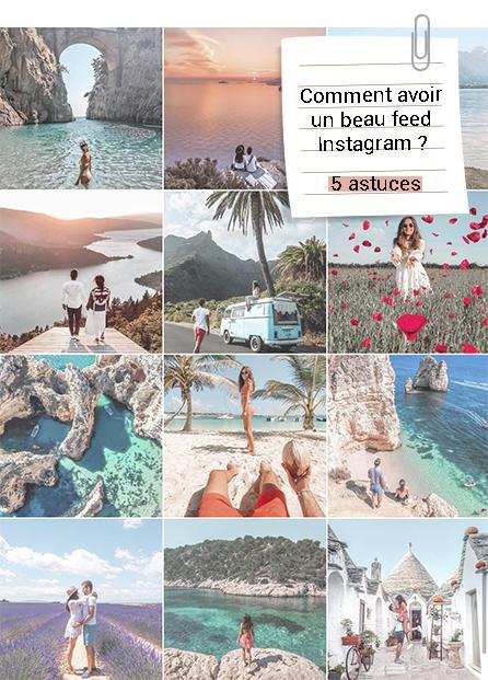 comment avoir un beau feed Instagram