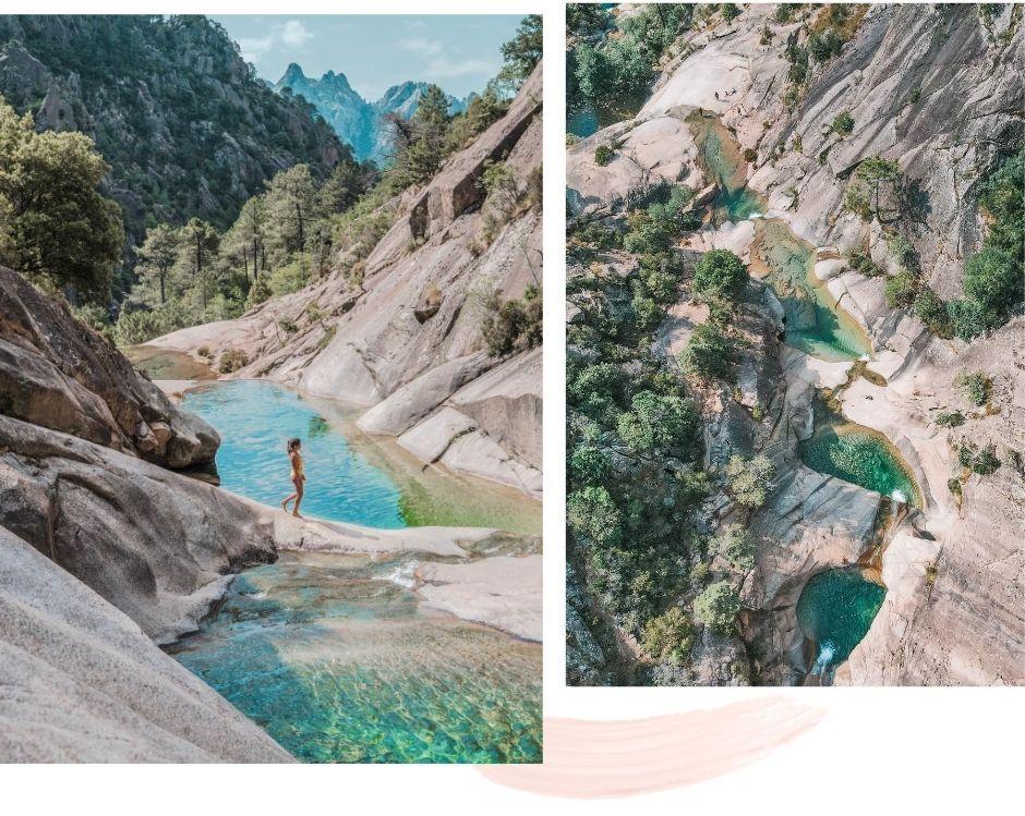 Corsican natural pools