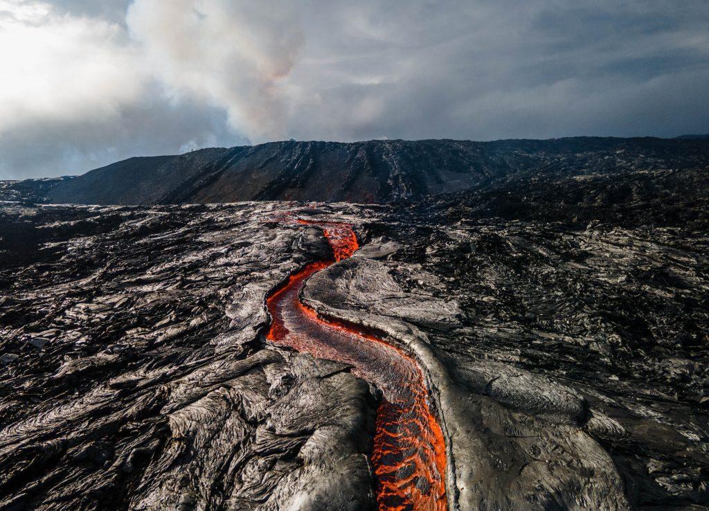 volcan en éruption islande